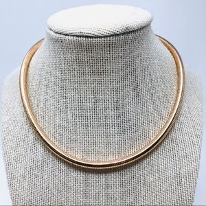 🆕 Rose gold bronze serpent necklace, Italy